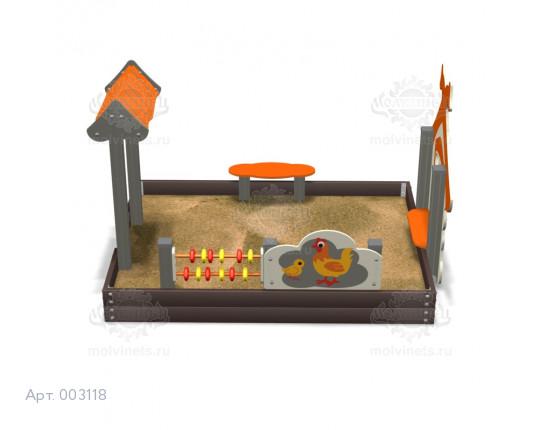 """003118 - Песочница """"Избушка"""""""