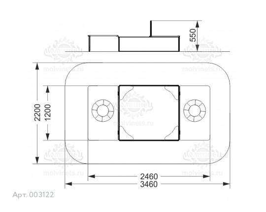 003122 - Песочница с крышкой