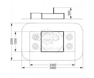 003123 - Песочница с крышкой