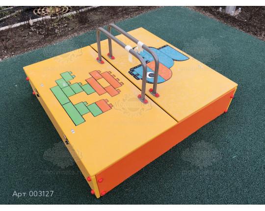 003127 - Песочница с крышкой