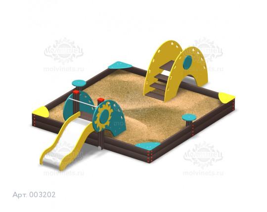 003202 - Песочный городок с горкой