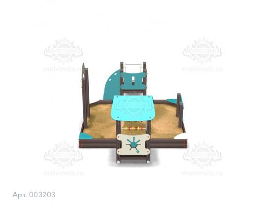 003203 - Песочный городок с горкой