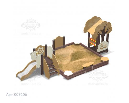 """003206 - Песочный городок с горкой """"Лесок"""""""