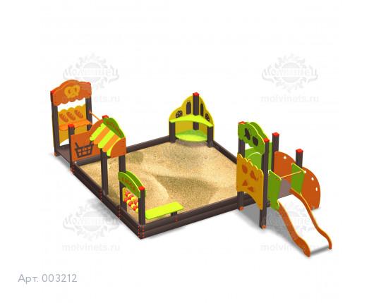 """003212 - Песочный городок с горкой """"Магазин"""""""