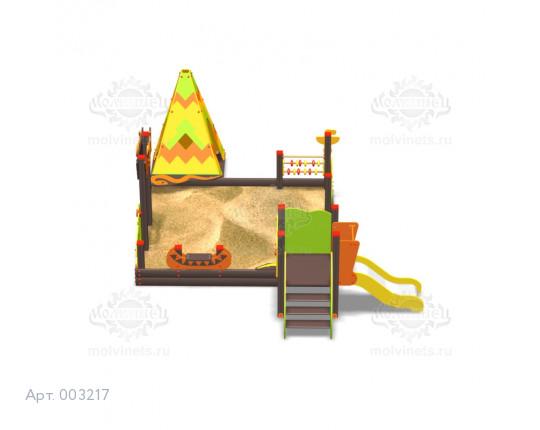 """003217 - Песочный городок с горкой """"Чингачгук"""""""