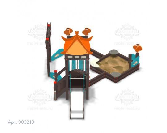 """003218 - Песочный городок с горкой """"Поднебесная"""""""