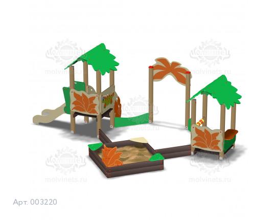 """003220 - Песочный городок с горкой """"Парк Юрского периода"""""""