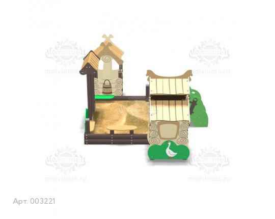 """003221 - Песочный городок """"Деревушка"""""""