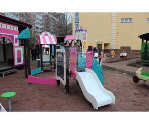 """003223 - Песочный городок с горкой """"Парижское кафе"""""""
