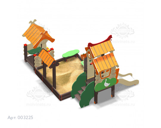 """003225 - Песочный городок с горкой """"Деревушка Мини"""""""