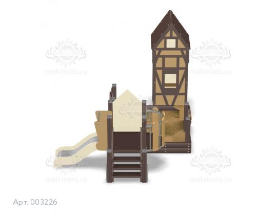 """003226 - Песочный городок с горкой """"Фахверк"""""""