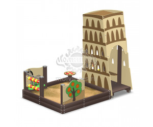 """003228 - Песочный городок """"Пизанская башня"""""""