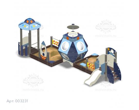 """003231 - Песочный городок с горкой """"Лунная станция"""""""