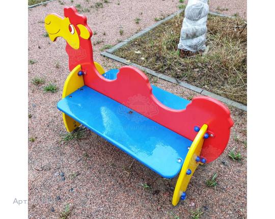 """003601 - Детская скамья """"Верблюжонок"""""""
