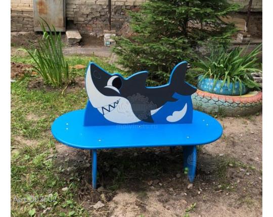 "003602 - Детская скамья ""Акулёнок"""