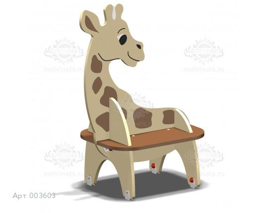 """003603 - Детская скамья """"Жирафик"""""""