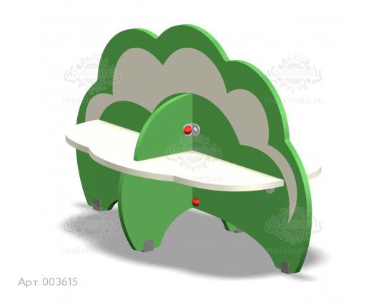"""003615 - Детская скамья """"Кустики"""""""