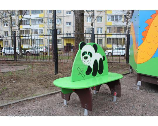 """003618 - Детская скамья """"Пандочка"""""""