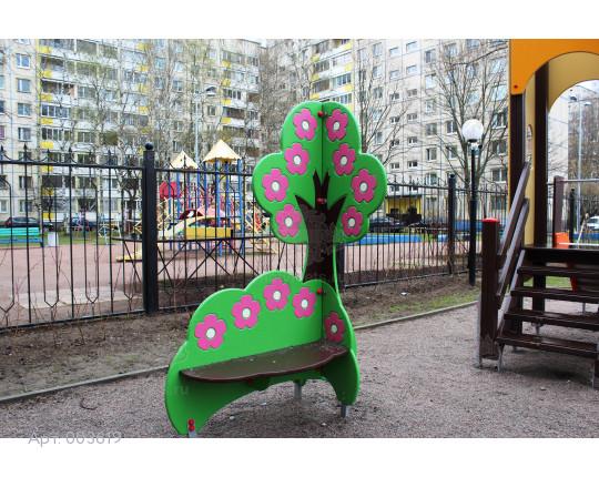 """003619 - Детская скамья """"Цветущая вишня"""""""