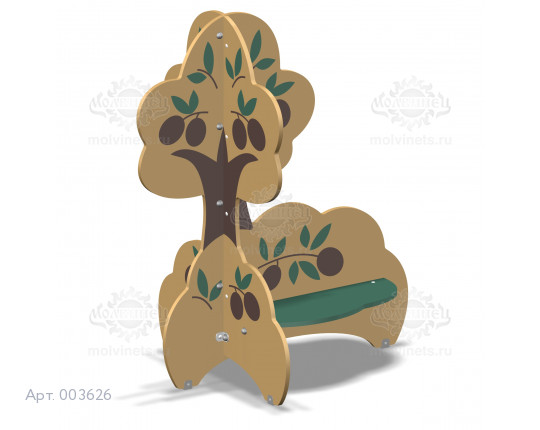 """003626 - Детская скамья """"Оливковое дерево"""""""