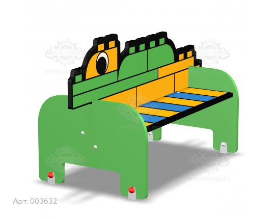 """003632 - Детская скамья """"Конструктор Крокодил"""""""