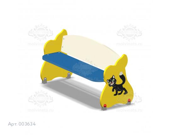 """003634 - Детская скамья """"Котёнок"""""""
