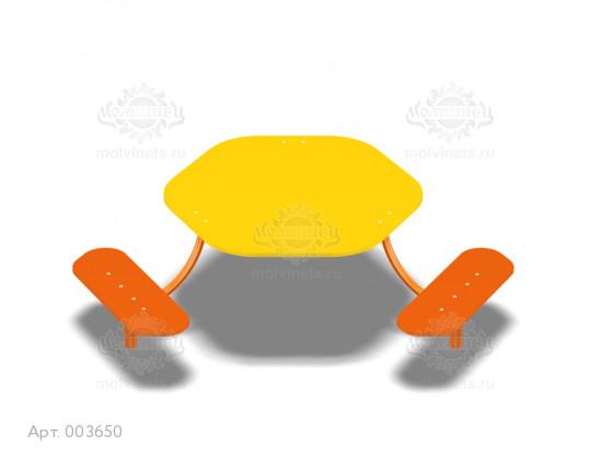 003650 - Детский столик со скамьями
