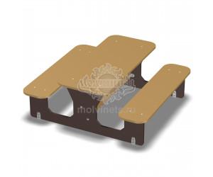 003652 - Детский столик со скамьями