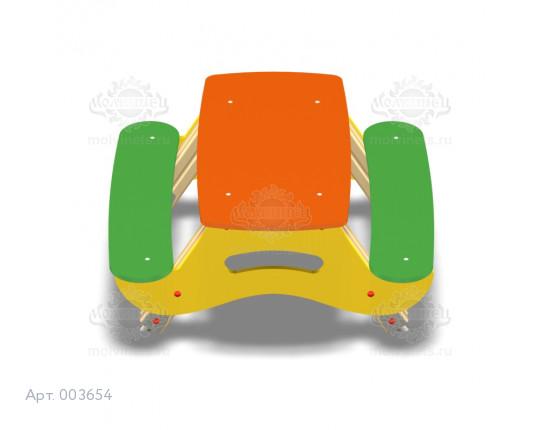 003654 - Детский столик со скамьями