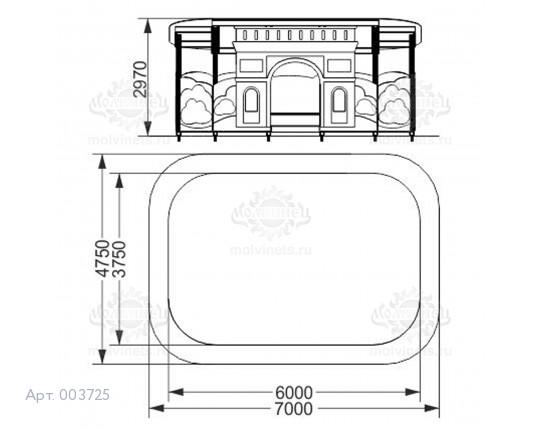 """003725 - Теневой навес """"Триумфальная арка"""""""