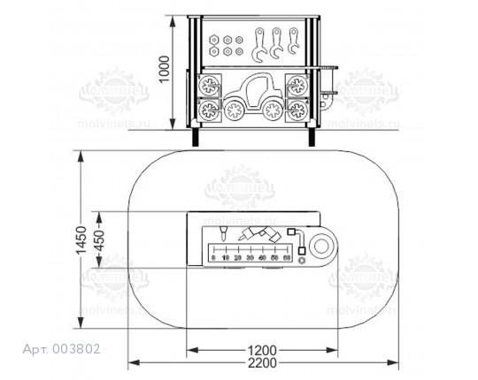 """003802 - Развивающий игровой элемент """"Шиномонтаж"""""""