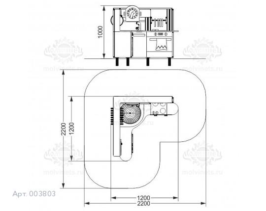 """003803 - Развивающий игровой элемент """"Кухня угловая"""""""