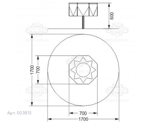 """003815 - Развивающий музыкальный игровой элемент """"Там-Там"""""""