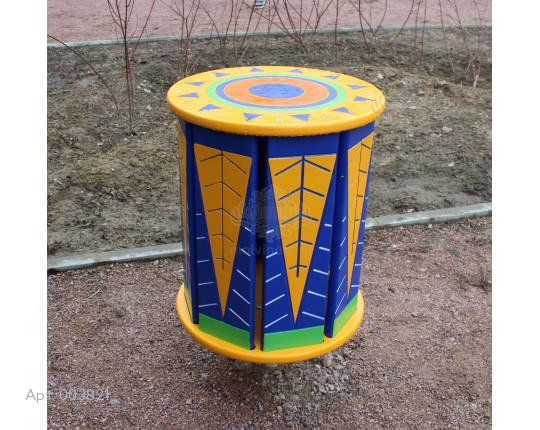 """003821 - Развивающий музыкальный игровой элемент """"Бразильский барабан"""""""