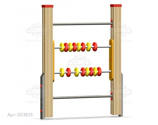 """003825 - Развивающий элемент """"Счеты на столбах"""""""
