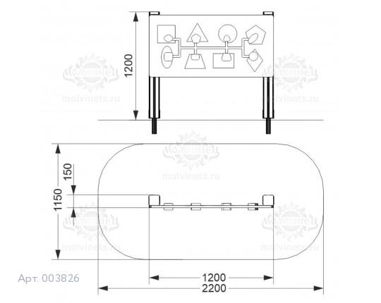 "003826 - Развивающий элемент ""Геометрия"""