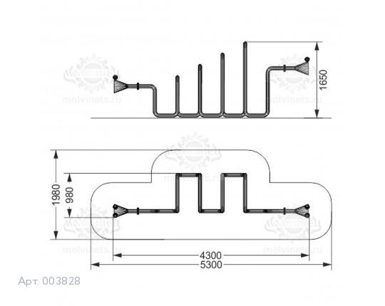 """003828 - Развивающий элемент """"Слуховая труба"""""""