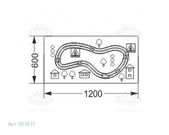 """003831 - Развивающая панель """"Машинка"""""""