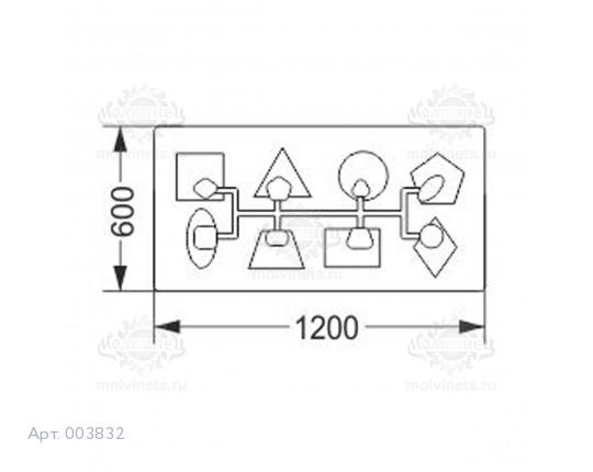 """003832 - Развивающая панель """"Геометрия"""""""