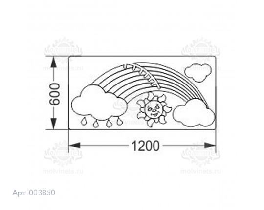 """003850 - Развивающая панель """"Радуга"""""""