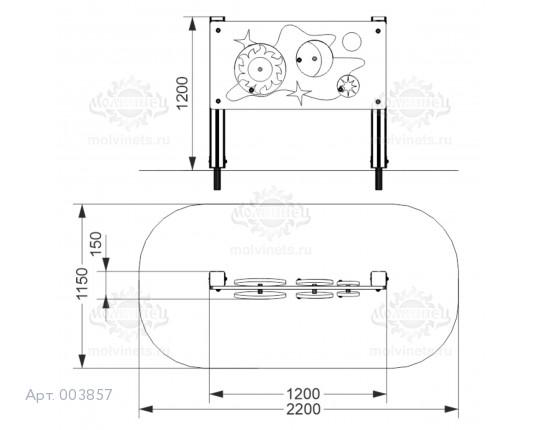 "003857 - Развивающий элемент ""Вертушки"""