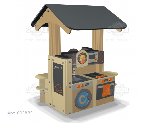 """003883 - Развивающий игровой элемент """"Кухня с крышей"""" двухсторонняя"""