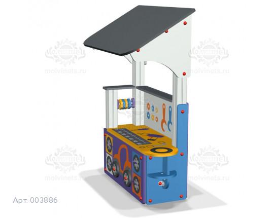 """003886 - Развивающий игровой элемент """"Шиномонтаж с крышей"""""""