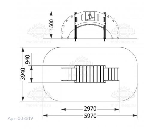 """003919 —Развивающий комплекс """"Надземный пешеходный переход"""""""