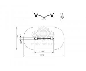 004101 - Качели балансирные металлические