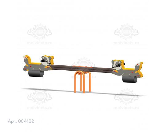 """004102 - Качели балансирные деревянные """"Барсуки"""""""