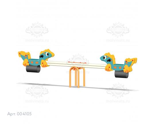 """004105 - Качели балансирные деревянные """"Бронтозаврики"""""""