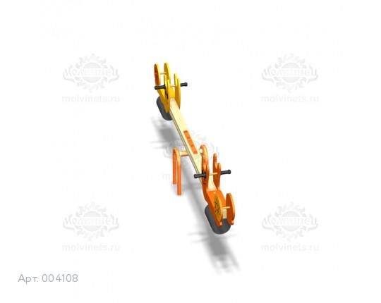 """004108 - Качели балансирные деревянные """"Виноградные улитки"""""""