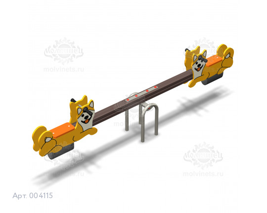 """004115 - Качели балансирные деревянные """"Сиба-ину"""""""