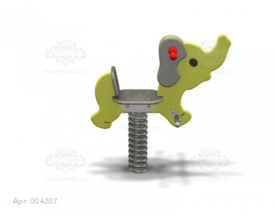 "004207 - Качалка на пружине ""Слонёнок"""